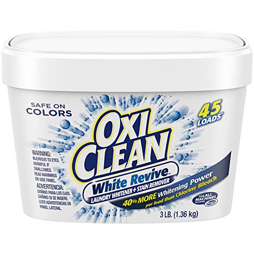OxiClean White Revive Laundry Whitener + Stain Remover, 3 Pound (Get Coffee Stain Out Of White Shirt)