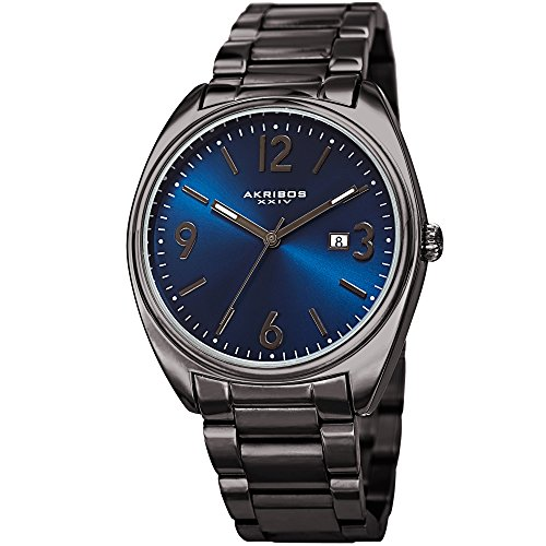 Akribos XXIV Men's Quartz Stainless Steel Casual Watch, Color:Grey (Model: AK957GNBU) ()