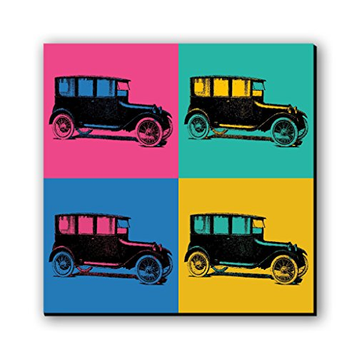 Vintage Car Pop Art Fridge Magnet/Multipurpose Magnet by Seven rays, Multicolour