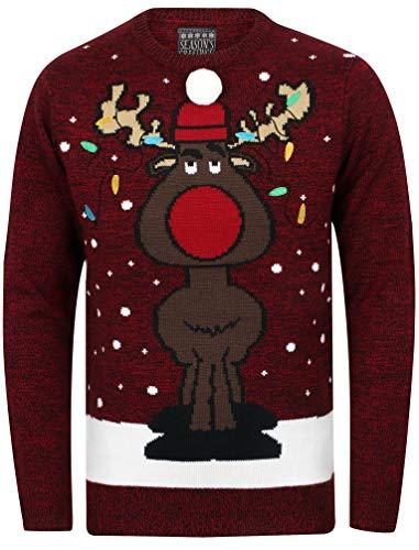 Natalizio Di Unisex Rosso Natalizio Greetings Festa Adulti nero Intrecciata Marca Maglione Natale Twist Seasons wpSIqaXx