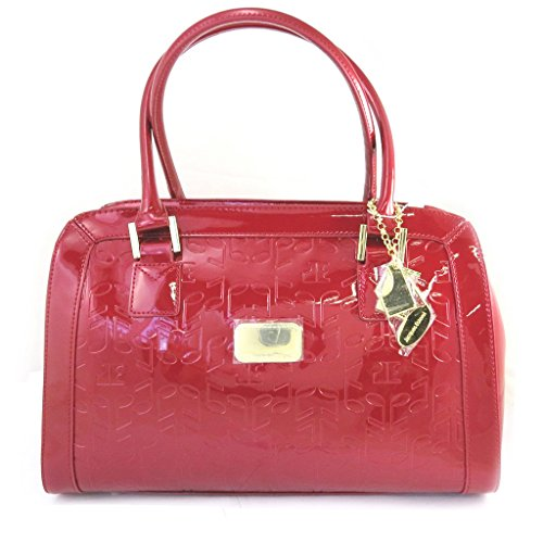 Jacques ESTEREL [M0239] - Sac Cuir 'Jacques Esterel' notes de musique rouge vernis