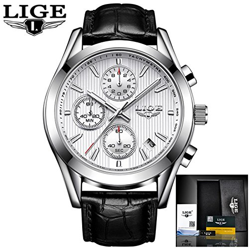 Relojes para hombres Top Luxury Business Full Steel Reloj de cuarzo Hombres Casual Relojes deportivos impermeables