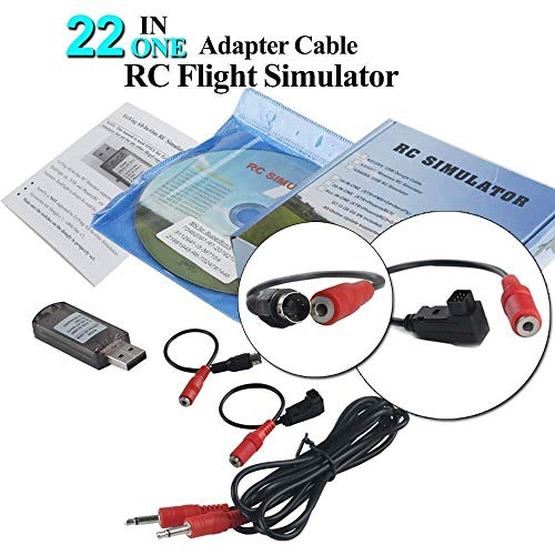 PCtech 22 in 1 RC Flight Simulator Adapter for G7 Phoenix 5.0 XTR VRC, Flysky Frsky Remote Controller FPV Racing (22 Inch Rc Helicopter)