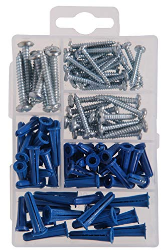 The Hillman Group 591516 Small Anchors with Screws Assortment, 95-Pack