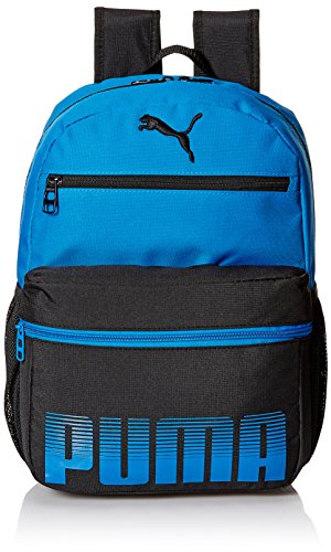 51b6MsGuAwL - PUMA Boys' Little Backpacks and Lunch Boxes, Blue/Black, Youth