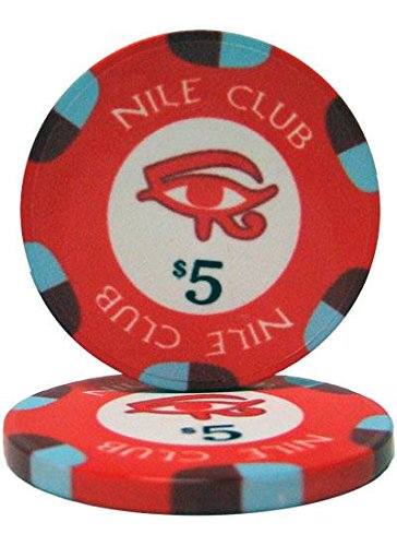 - Bry Belly CPNI-$5 25 Roll of 25 - $5 Nile Club 10 Gram Ceramic Poker Chip