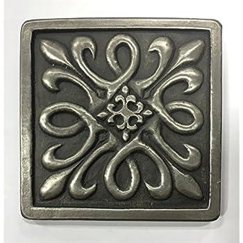 Bronze Metallic 4x4 Resin Decorative Insert Accent Piece