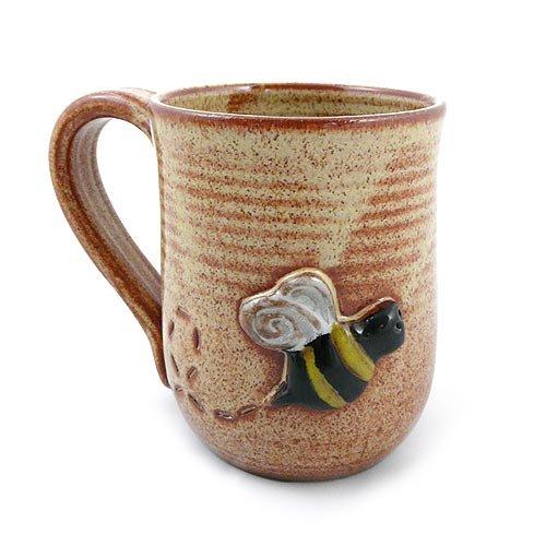 American Handmade Stoneware Pottery Busy Bee Mug