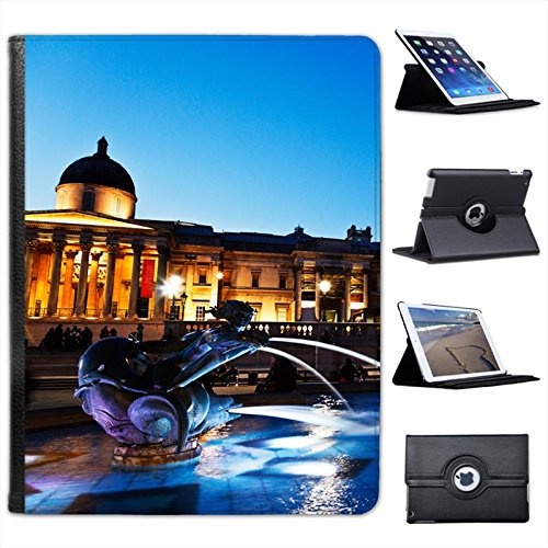 Trafalgar Square London & National Gallery for Apple iPad 2, 3 & 4 Faux Leather Folio Presenter Case Cover Bag with Stand Capability (Trafalgar Square London)