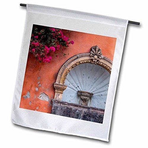 3dRose Danita Delimont - Architecture - Mexico, San Miguel de Allende, Street fountain built into a wall. - 18 x 27 inch Garden Flag (fl_258505_2) by 3dRose