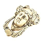 IndianShelf Handmade Vintage Brass Womans Head Door Knocker-1 Piece(MDK-121)