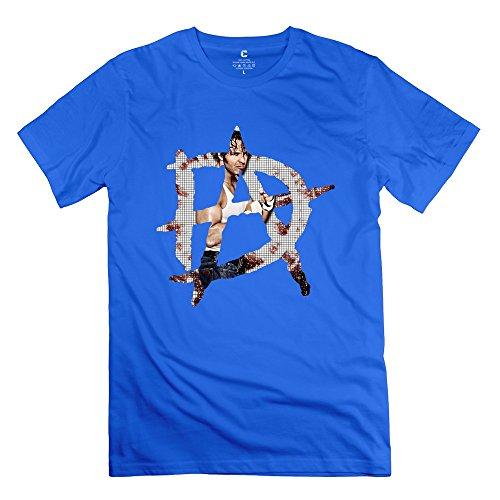 WWE Wrestler Dean Ambrose Logo Screw Neck T Shirt Size XXL RoyalBlue