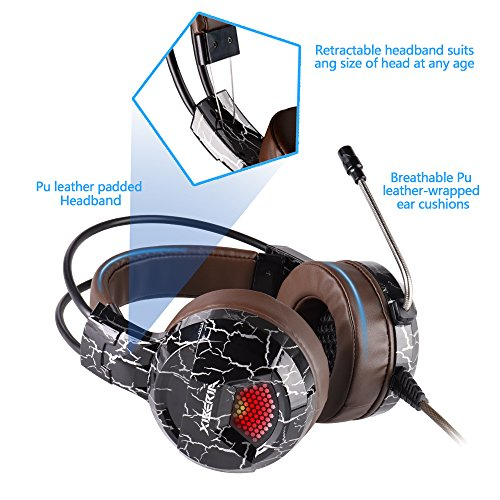 51b6NZ6%2BugL - XIBERIA-Gaming-Headset-with-Microphone-Over-Ear-Wired-Surround-Sound-Computer-Headphones-Volume-Control-Enhanced-Bass-Noise-Canceling-with-LED-Light-for-Playstation-4Laptop-and-PC-Brown