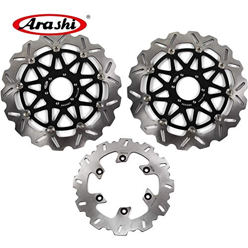 Front Yzf750 - Arashi For Yamaha YZF750R YZF750 SP 1993-1997 Floating Front Rear Brake Disc Rotor Disk Kit Motorcycle Accessories YZF 750 R/SP YZF750 750R 750SP 1994 1995 1996 Black
