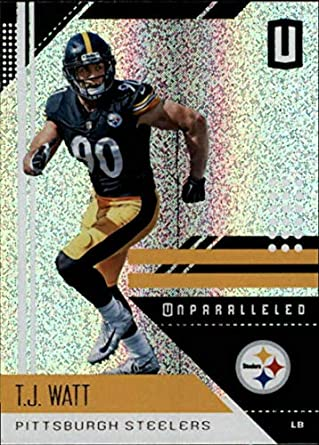 2018 Unparalleled NFL  168 T.J. Watt Pittsburgh Steelers Panini Football  Trading Card bda06622a