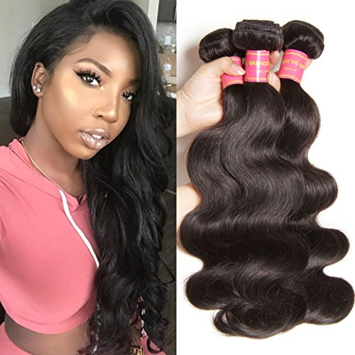 Donmily 7A Malaysian Body Wave Hair Weave 3 Bundles 100% Unprocessed Remy Virgin Human Hair Extensions (20 22 24, Natural Color) For Sale