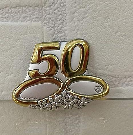 6 Pezzi Spilla Piccola In Argento Laminato 50 Anni Di Matrimonio