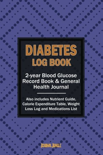 Diabetes Log Book: 2-year Record Book for Monitoring Blood Glucose / General Health Journal & Weight Loss Log (6x9 Inches / Portable)