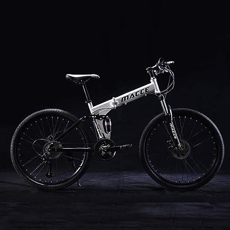 TYPO Bicicleta Plegable de 24 Pulgadas, Bicicletas de montaña para niños y jóvenes, Marco de Acero de 21 velocidades Bicicleta Plegable para niños MTB, Bicicleta para niños y niñas Marco de Acero: