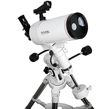 Image of Catadioptric Explore Scientific FL-MC1001400EQ3 First Light Tube sutov-Cassegrain Telescope with Exos Nano, 100mm, White