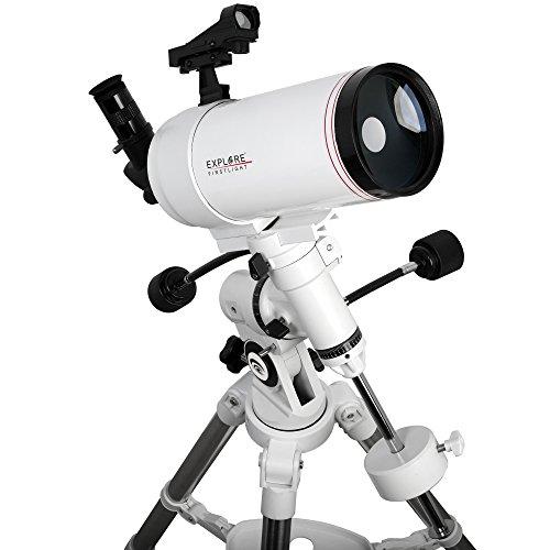 Explore Scientific FL-MC1001400EQ3 First light Tube sutov-Cassegrain Telescope with Exos Nano, 100mm, White by Explore Scientific