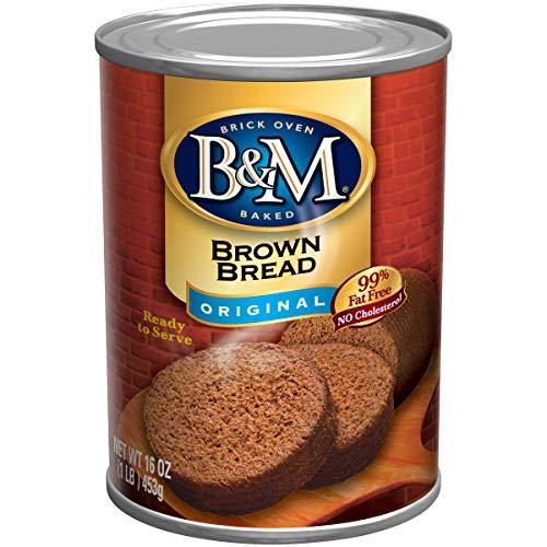 B&M Brown Bread, Original Flavor, 1 Pound (Pack of 12)