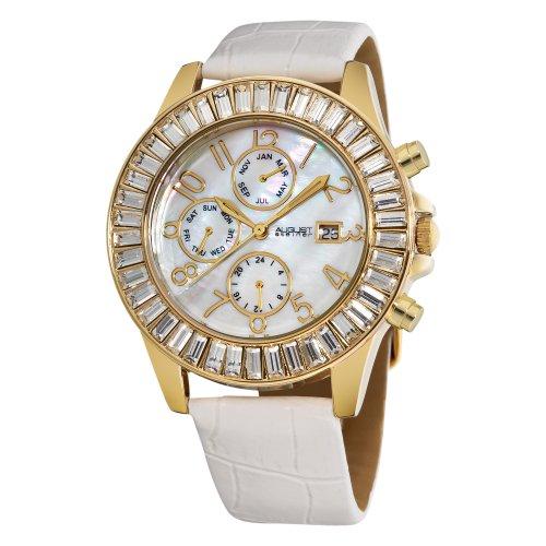 August Steiner Women's ASA837YG Swiss Quartz Baguette Bezel Watch