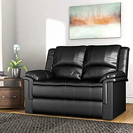 Enjoyable Forzza Ryan 2 Seater Recliner Sofa Black Pu Gmtry Best Dining Table And Chair Ideas Images Gmtryco