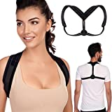 TURTLShield Posture Corrector for Women, Men and Kids | Posture Brace for Easing Neck and Back Pain | Smart Reminder Device for Correct Posture | Back Straightener | Adjustable Clavicle Brace