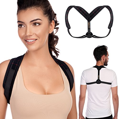 TURTLShield Posture Corrector for Women, Men and Kids | Posture Brace for Easing Neck and Back Pain | Smart Reminder Device for Correct Posture | Back Straightener | Adjustable Clavicle Brace