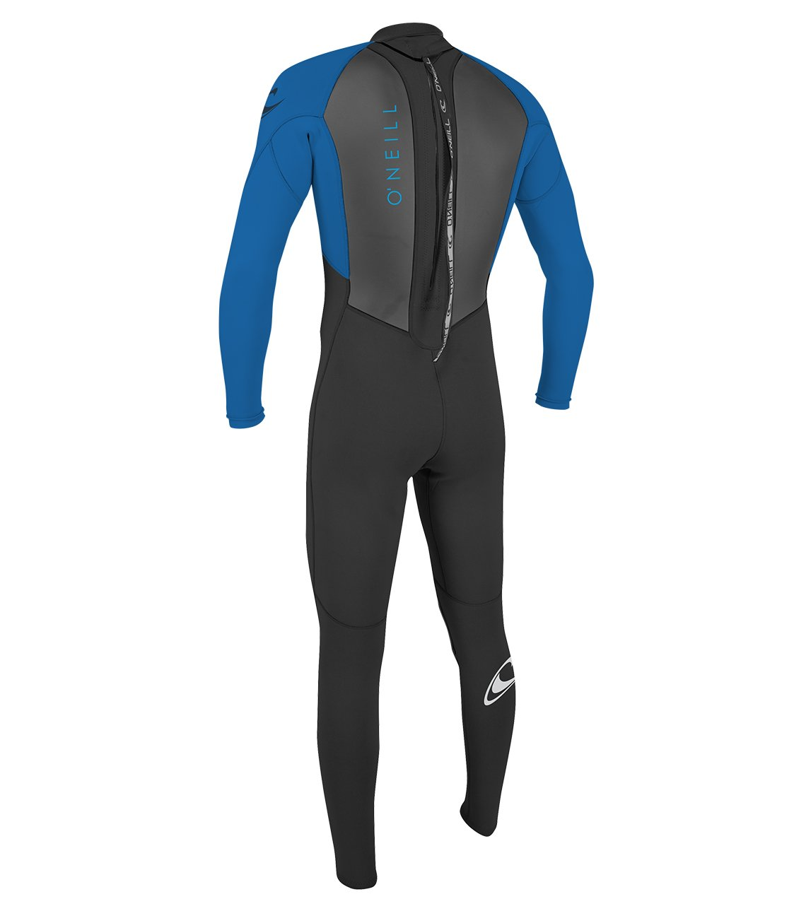 O'Neill Youth Reactor-2 3/2mm Back Zip Full Wetsuit, Black/Ocean, 4 by O'Neill Wetsuits (Image #2)