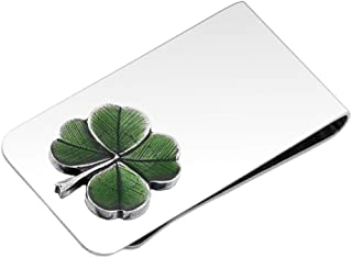 product image for DANFORTH - Clover (Green) Money Clip - 2 Inches - Gift Boxed
