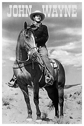 - John Wayne (On Horse) Movie Poster Print 24 x 36in