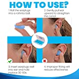 6 Pairs Ear Plugs for Sleeping, Reusable Silicone