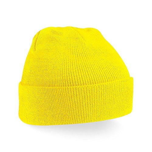 Gorro de invierno de moda Unisex B45 amarillo