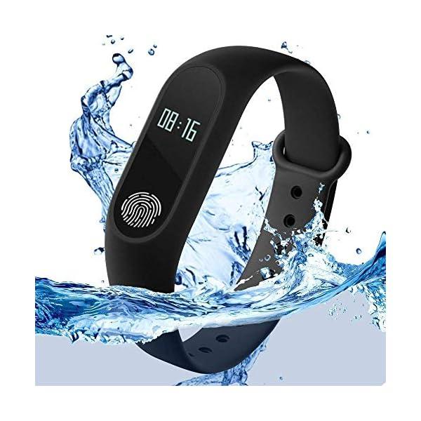 51b6Qlq5vOL RunSale Sports Smart Fitness Band 2 Bracelet/Fitband with Heart Rate Monitor Sensor M2 OLED Bluetooth Wristband…