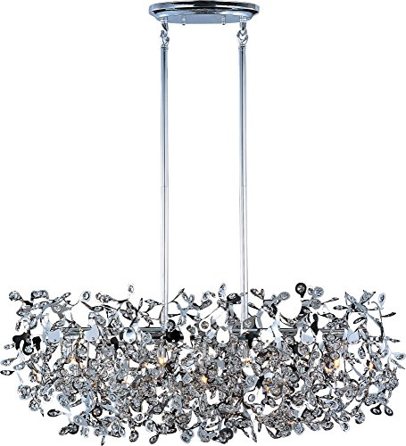 - Maxim 24206BCPC Comet 7-Light Pendant, Polished Chrome Finish, Beveled Crystal Glass, G9 Xenon Xenon Bulb , 100W Max., Wet Safety Rating, Standard Dimmable, Glass Shade Material, 1150 Rated Lumens