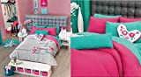 Girls Paris ''City of Love'' Bedding Collection (Full/Queen Size Reversible Comforter)