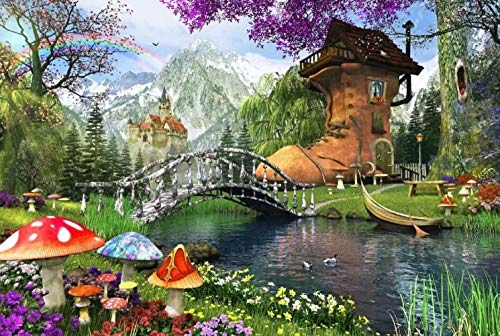 Queenie Colorful Art 1000 Piece Old Shoe House by Dominic Davison Kids Educational Learning Cognition Toys Adults Games Wooden Intelligence Jigsaw Puzzles for Xmas Birthday Gifts]()