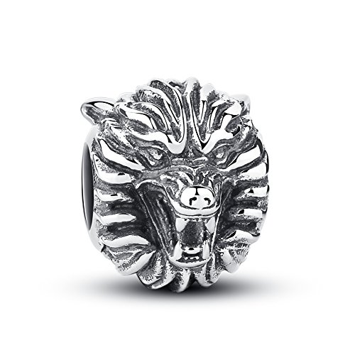 (Glamulet Wolf Charm 925 Sterling Silver Animal Bead DIY Charms Bracelet)