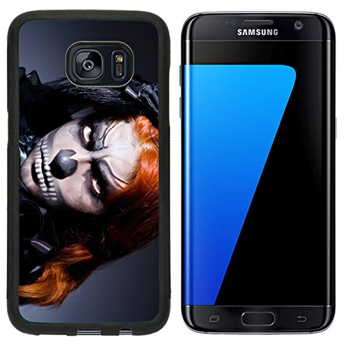 T Mobile Girl Halloween Costume (Luxlady Premium Samsung Galaxy S7 Edge Aluminum Backplate Bumper Snap Case IMAGE ID: 23823677 Scary monster in dark room)