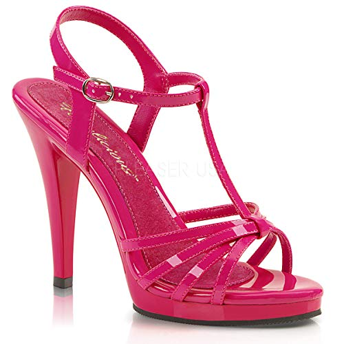- Fabulicious Women's Fla420/hp/m Platform Sandal, Patent/Hot Pink, 10 M US