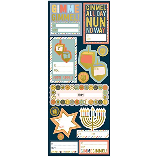 (Jillson Roberts 216-Count Hanukkah Self-Adhesive Gift Label Stickers, Hanukkah Gelt)