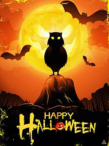 777 Tri-Seven Entertainment Happy Halloween Poster Wall Art Decoration (18x24)