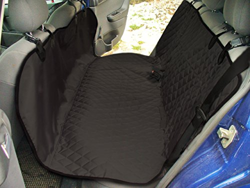 Dog Car Barrier Back Seat Cover for Cars Trucks SUV - Rear Seats Protector for Small Medium or Large Dogs Pets - Waterproof Hammock 2 Colors (Black)