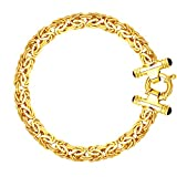 Jewelry Affairs 14k Yellow Gold Byzantine Link Bracelet, 8mm, 7.25''