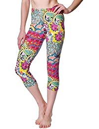 VIV Collection Printed Brushed Women's Capris