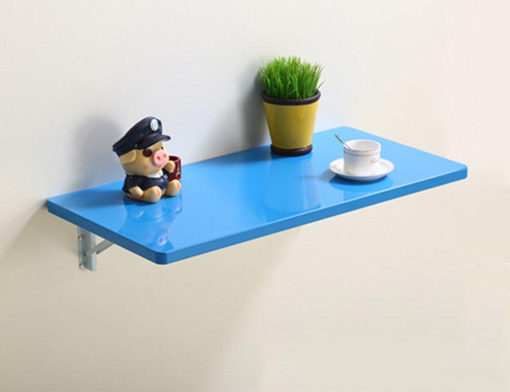 壁掛けラップトップデスクシンプルな折り畳み式コンピュータデスクグリル付きラッカーウォールテーブルカラーサイズオプション ( 色 : 青 , サイズ さいず : 80*40cm ) B07B3VWS4C 80*40cm|青 青 80*40cm
