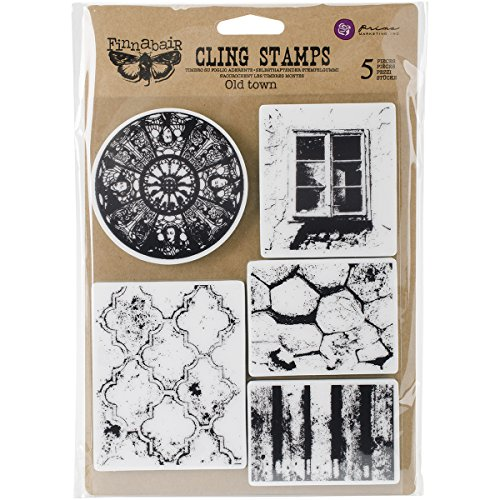 Prima Marketing Finnabair Cling Stamps 6''X7.5''-Old Town by Prima Marketing