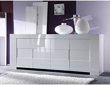 Buffet Bahut Blanc Laque Design Muse